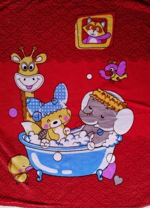 Плед дитяче одіяло детское мягусенькое флисовое двойное одеяло плед