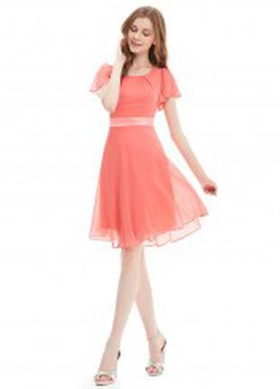 Нежное,  романтичное платье кораллового цвета
