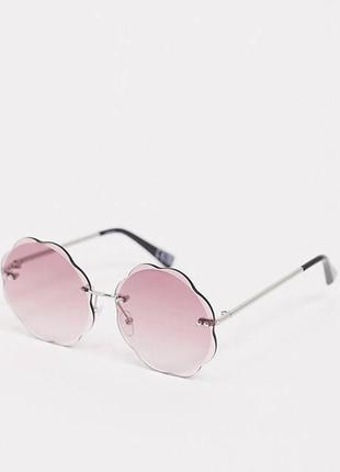 Новые безрамные солнцезащитные очки с розовыми стеклами asos