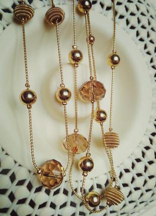 Длинное ожерелье, сотуар, чешское стекло