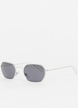 Новые солнцезащитные очки квадратные прямоугольные в металлической оправе weekday