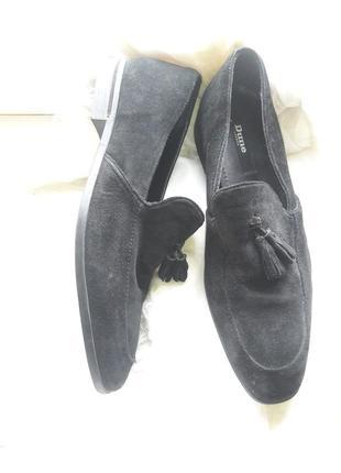 Туфли замшевые лоферы dune 45 размер