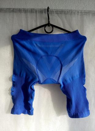 Велошорты велотрусы компрессионные женские размер s цвет синий