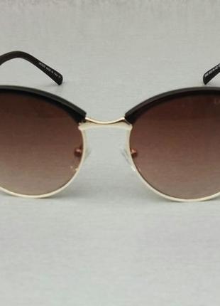 Lacoste очки унисекс солнцезащитные округлой формы коричневые с градиентом