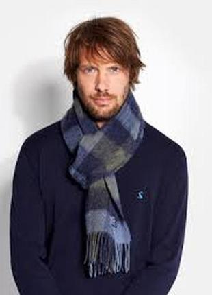 Трендовый шарф в клетку 100% шерсть