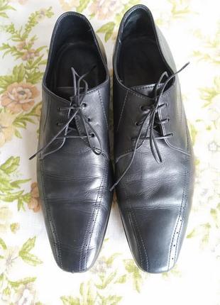 Туфли мужские кожаные hugo boss, италия, оригинал, размер 41,5