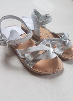 Серебристые плетеные сандали next кожаные 21,5