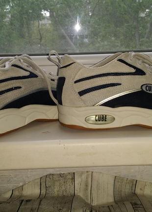 Светлые кроссовки кеды высокая платформа шнуровка cube натур кожа