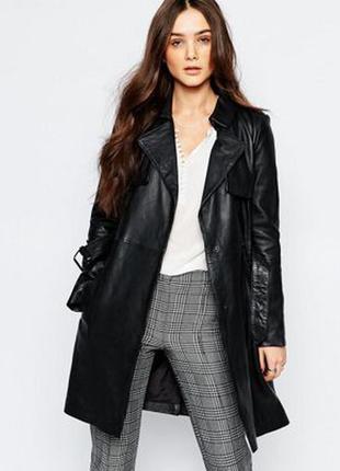 Кожаное пальто / плащ / 100% кожа