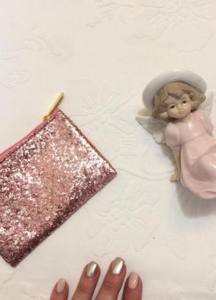 Блискучий рожевий гаманець