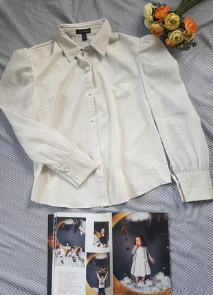 Блуза с объемными рукавами фонариками
