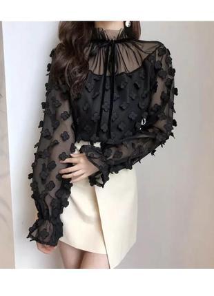 Блузка с завязками zara