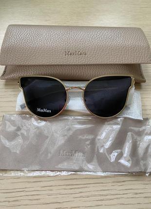 Женские брендовые солнечные очки max mara;  оригинал с чехлом