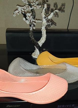 Женские силиконовые балетки, аквашузы, коралки,  обувь силиконовая