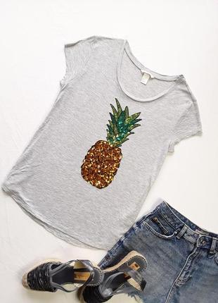 Нарядная футболочка с ананасом от н&м