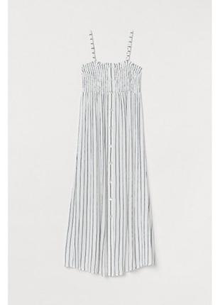 Белое кэжуал платье h&m