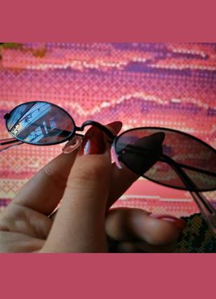 Трендовые овальные узкие ретро очки