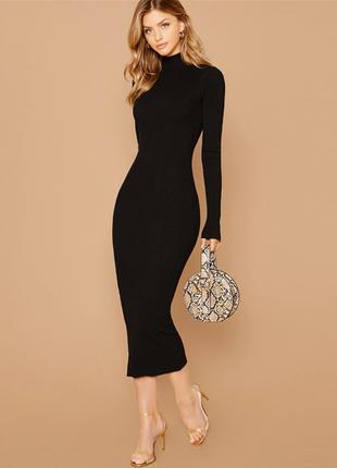 Фирменное облегающее платье миди