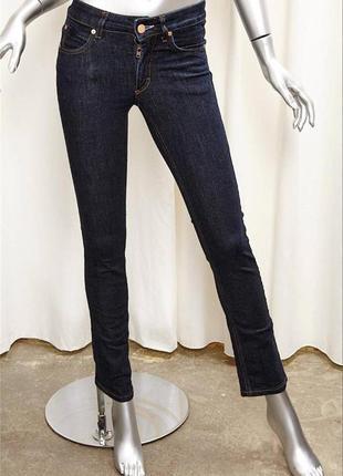 Новые с биркой джинсы acne jeans hex 24 25 узкие прямые со средней посадкой оригинал