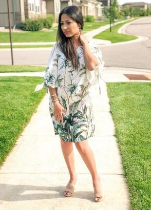 Платье h&m в тропический принт