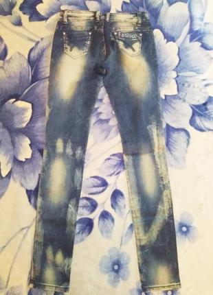Джинсы fashion jeans новые xxs-xs7 фото
