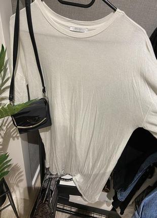 Крутое платье футболка оверсайз  zara с напылением, хлопок,2 фото