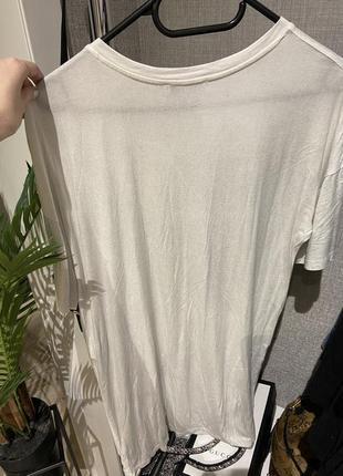 Крутое платье футболка оверсайз  zara с напылением, хлопок,4 фото