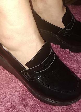 Женские. лак-кожа туфли,размер 38