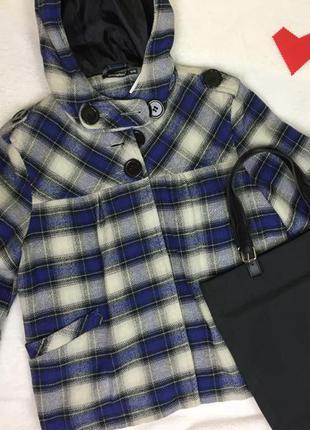 Шерстяное манто / куртка / короткое пальто