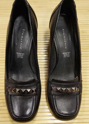 Кожанные туфли 5th avenue