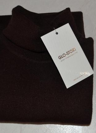 """Актуальний повсякденний гольф, бренд """"glo-story"""", розмір xs, шоколадний колір"""