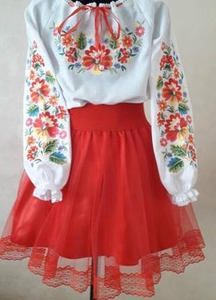 Надзвичайно гарна натуральна вишиванка для дівчинки натуральная хлопковая вышиванка для девочки