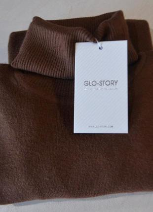 """Актуальний повсякденний гольф, бренд """"glo-story"""", розмір s/m, коричневий колір"""