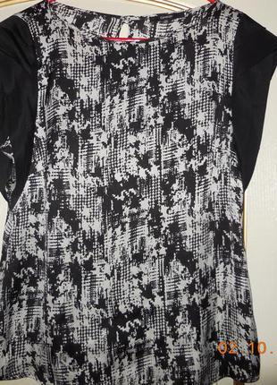 Блузочка чёрно-белая