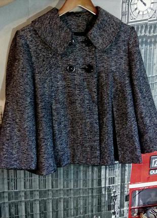 Стильне півпальто, пальто, кейп, накидка, великий розмір
