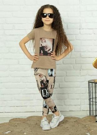 Стильный костюм для девочки, люкс качество, стамбул,3/4 года.