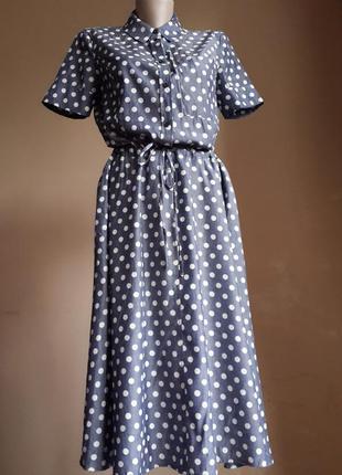 Стильное платье горох jasper conran британия