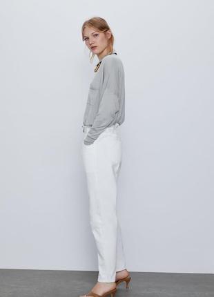 Белые джинсы багги baggy zara, 40р оригинал, испания6 фото