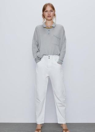 Белые джинсы багги baggy zara, 40р оригинал, испания3 фото