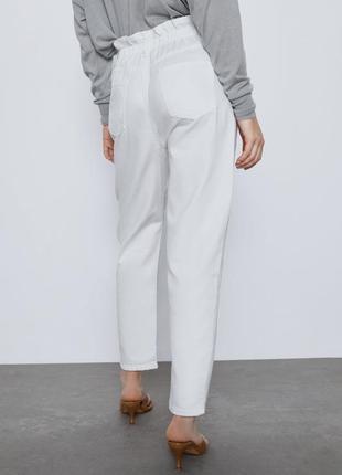 Белые джинсы багги baggy zara, 40р оригинал, испания4 фото