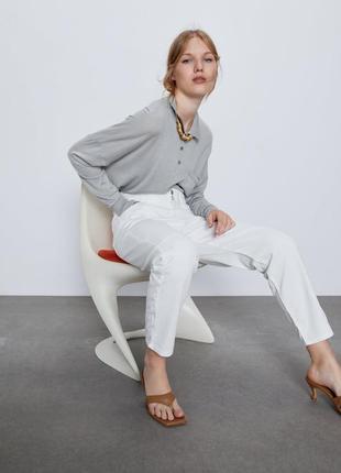 Белые джинсы багги baggy zara, 40р оригинал, испания2 фото