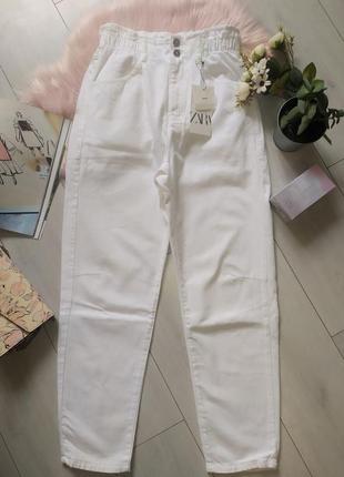 Белые джинсы багги baggy zara, 40р оригинал, испания7 фото