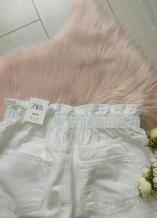 Белые джинсы багги baggy zara, 40р оригинал, испания10 фото