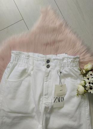Белые джинсы багги baggy zara, 40р оригинал, испания8 фото
