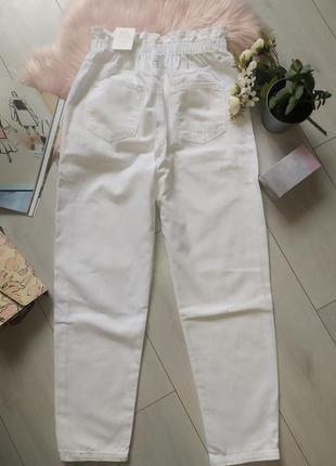 Белые джинсы багги baggy zara, 40р оригинал, испания9 фото