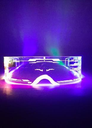 Новые светодиодные неоновые светящиеся очки в стиле киберпанк cyberpunk