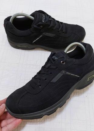 Оригинальные кожаные (нубук) городские кроссовки ecco р. 41 - 42 (27 см)