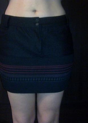 Шерстяная зимняя мини юбка