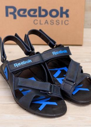 Мужские сандалии из натуральной кожи reebok ns(40-45р)наложенный платеж