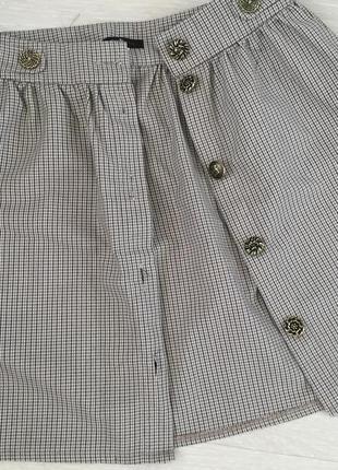 Мега модная юбка с пуговицами